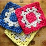 #bakingoutsidethebox | Snowflake on the Square Pattern granny square with free instructions.