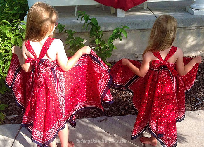 #bakingoutsidethebox   Get the tips and sewing instructions for this Bandanna Dress . It is a fun pattern adaptation for sizes 3-7. Twirl!!