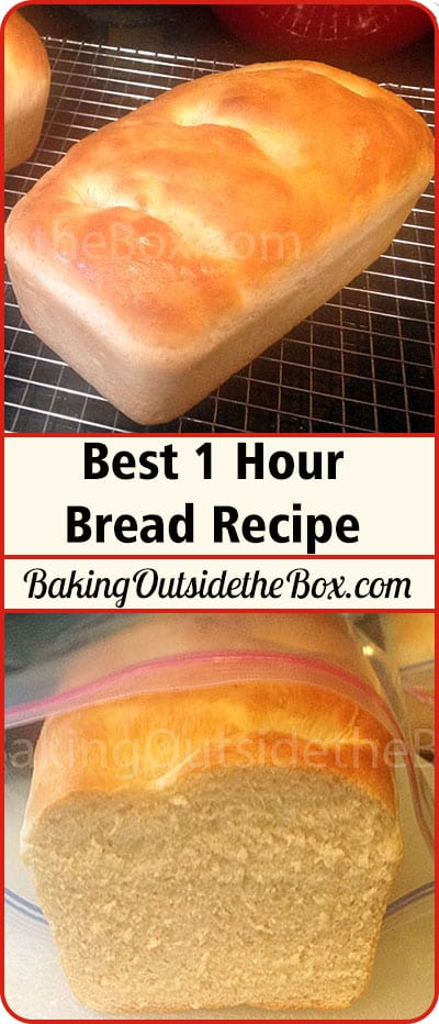 Best 1 Hour Bread Recipe. Perfect bread start to finish in one hour. This