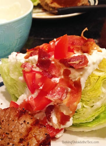 BLT Blue Cheese Loaded Lettuce Wedges are light, crisp and hearty with ...