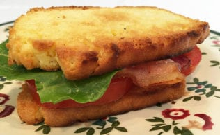 This low carb bread is great for toast and sandwiches. It slices well. It's totally worth separating a few eggs to enjoy this bread with a meal and without guilt at just 1.1 net carbs a slice.