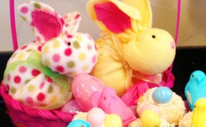 Whip up some Easter fun making these yummy coconut Bird's Nest Cookies and then cuddle-up with the Last Minute Bunny. Get the recipe and the pattern.