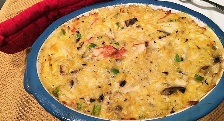 This low carb Crab Tetrazzini recipe was easy to make and so yum. Gotta try it with chicken too.