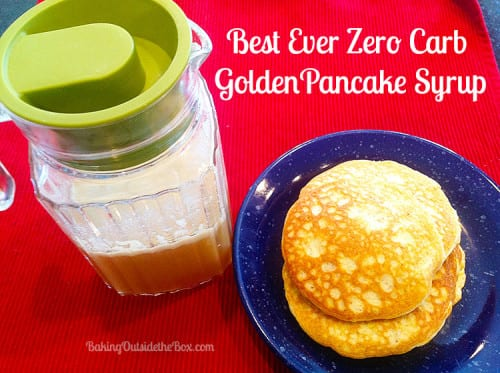 Zero carb golden pancake syrup is rich tasting and delicious.