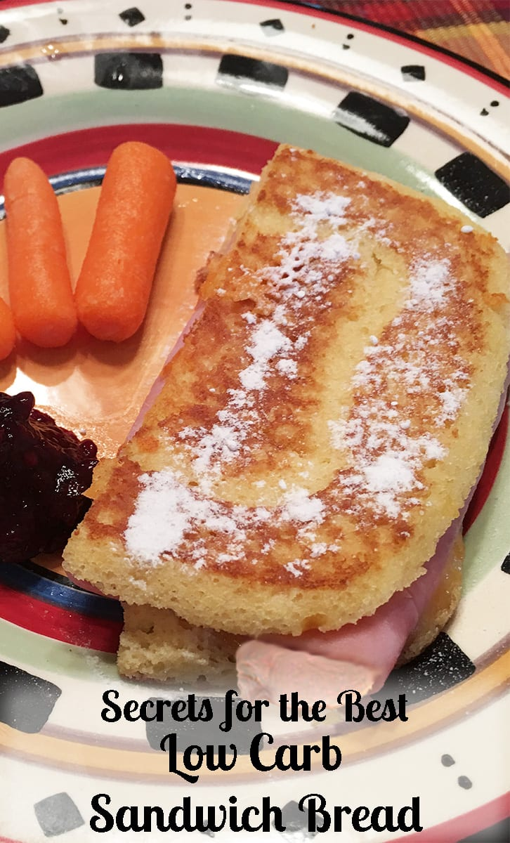 A Monte Cristo sandwich made with Low Carb Sandwich Bread