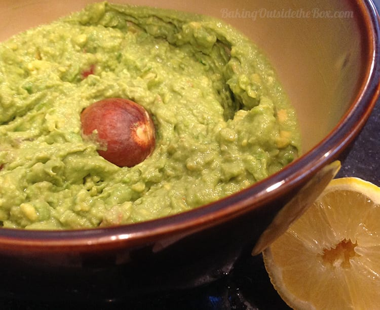 this easy guacamole is a great side for  the Fresh-Mex Chicken that makes wonderful shredded chicken for salads and tacos.