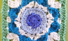 #bakingoutsidethebox | The Lost Granny Squares Series Continues with the Kaleidoscope Pattern a fun and mildly challenging design.
