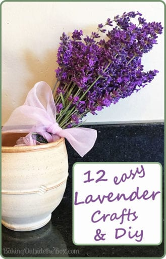12 Cute, Clever and Easy Lavender Crafts and DIYs.  Perfect for a handmade gift or a blissful little indulgence.