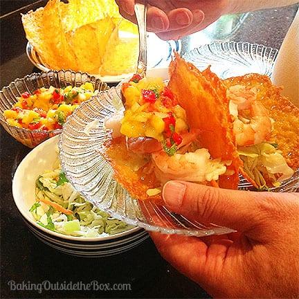 #bakingoutsidethebox   Just 1 ingredient! Crispy zero carb taco shells. So easy to make and even easier to eat.