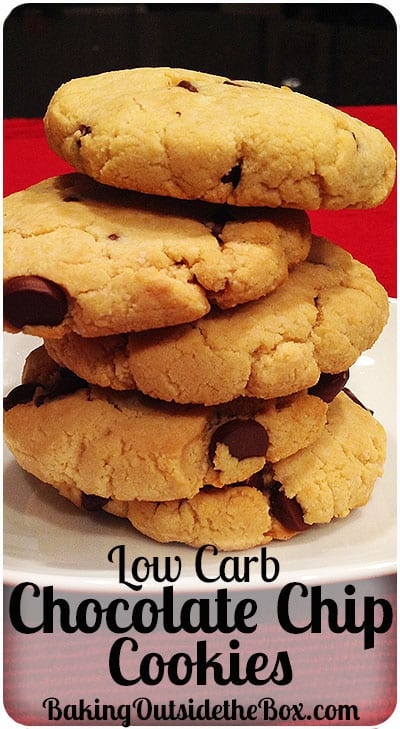 low carb chocolate chip cookies recipe baking outside the box. Black Bedroom Furniture Sets. Home Design Ideas