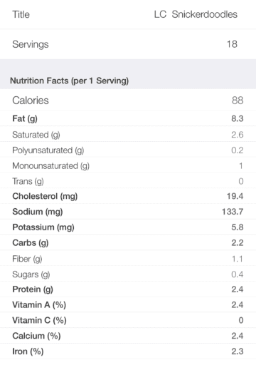 Snickerdoodle Cake Ingredients