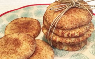This Low Carb Snickerdoodle recipe is a recipe makeover for the original and at about 1 net carb each is a low carb bargain dessert.