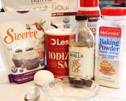 Dry ingredients for Low Carb Mug Pancake.