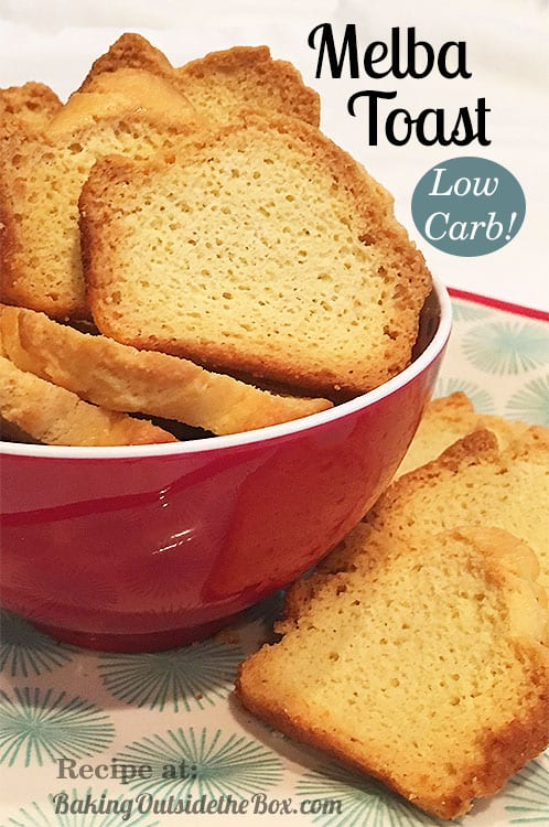 This Low Carb Melba Toast Is Easy To Make And Crunchy Made From Almond Biscuits