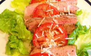 #bakingoutsidethebox | Planned Over meals can be the easiest and happiest meals of the week and can be key in successful dieting. This steak salad recipe is a favorite Planned Over meal at my house. So much better than left-overs!