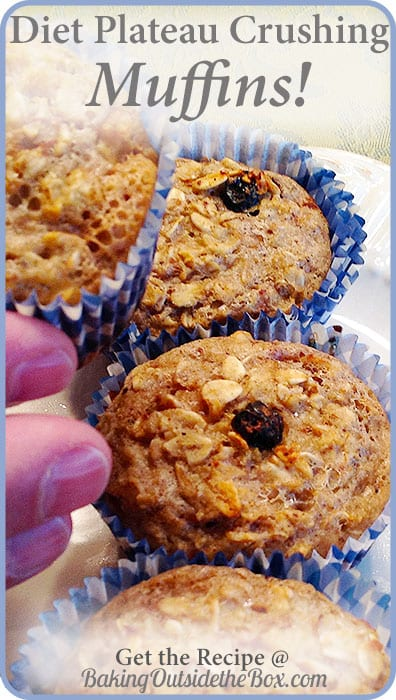 Yes, you read that right. It seems impossible, yet this is a Diet Plateau Crushing Muffin Recipe. I discovered it as a joke - yummy and slimming one. Gluten free too!