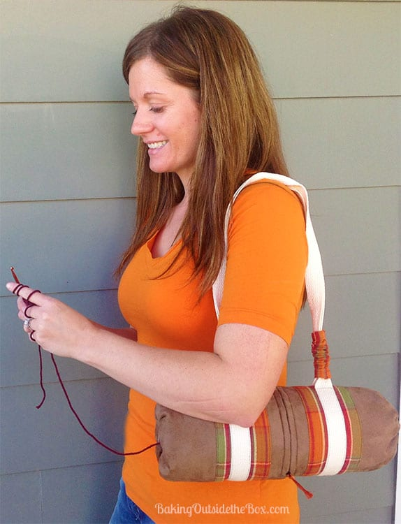 Bolster Bag Yarn Caddy Pattern - for knitters on the go!