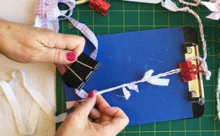 DIY Baker's Twine is so fun and fast to make. Kids will enjoy it too. You can use it as ribbon, string or yarn. The short video tutorial makes it easy.